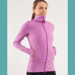 Lululemon Heathered Pink Luon In Stride Jacket
